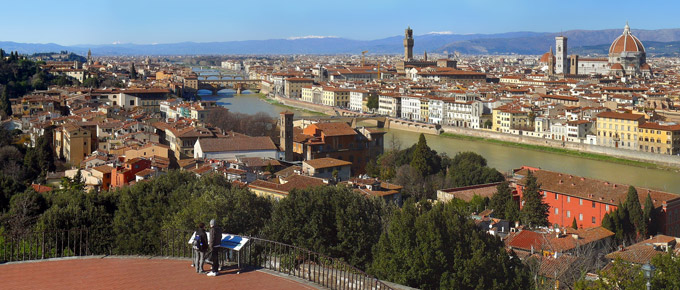 Panorama di Firenze da Piazzale Michelangelo