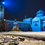 Piazza Duomo sotto la neve