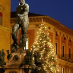 Fontana del Nettuno con lAlbero di Natale