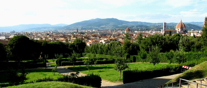 Panorama di Firenze dai Giardini di Boboli