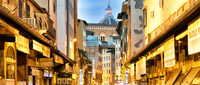 Scorcio del centro storico di Firenze