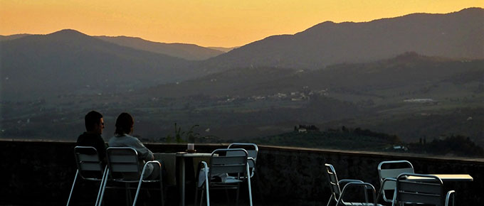 Tramonto in Val di Sieve